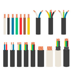 electrical cables set with varieties of electric vector image