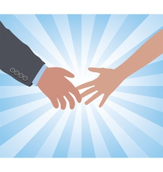 hands of a man and a woman vector image vector image