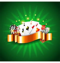Luxury casino background with cards vector image