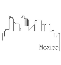 mexico city one line drawing vector image