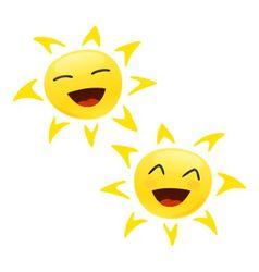 smiling happy sun vector image vector image