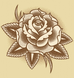 stippled rose vector image