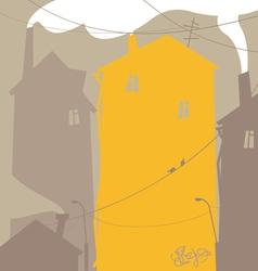 Urban scene vector image