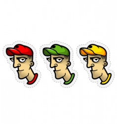 cartoon avatar vector image