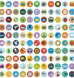 Flat icons design modern big set of various vector image vector image