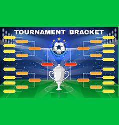 football tournament banner vector image
