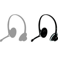 head phones vector image vector image