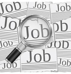 Job Search vector image
