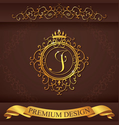 Letter J Luxury Logo template flourishes vector image