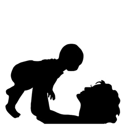 mother with a baby vector image vector image