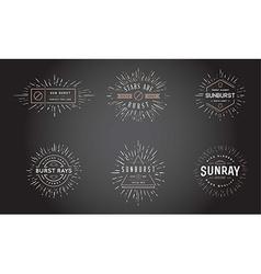 Sunburst on Starburst Element Set for Logo vector image vector image