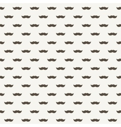 Background with brown mustaches vector image vector image