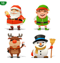 christmas professions set vector image