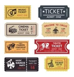 Entertainment Ticket Set vector image