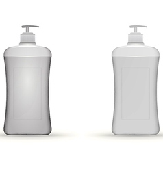 gray dispenser pump bottles mock up vector image vector image