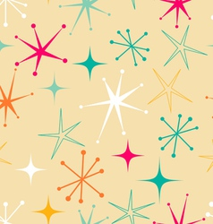 Retro starry pattern vector