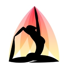 Yoga emblem of abstract stylized person Sport vector image vector image