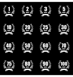 Anniversary label collection vector image