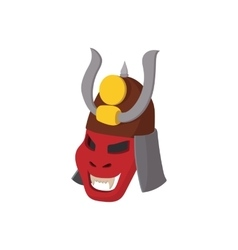 Armour mask icon cartoon style vector image vector image