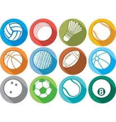 Ball Icon Set vector image vector image