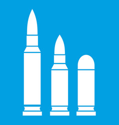 bullets icon white vector image vector image