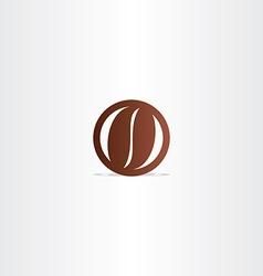 coffee bean icon design element vector image vector image