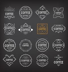 Coffee menu logo template vintage geometric badge vector image vector image