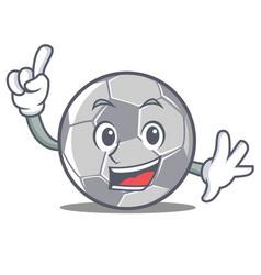 finger football character cartoon style vector image