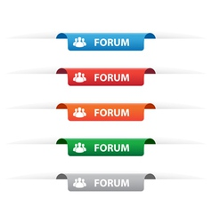 Forum paper tag labels vector image vector image