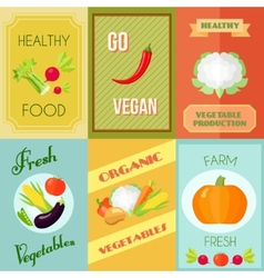 Healthy Food Mini Poster Set vector image vector image