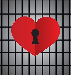 Locked heart with keyhole vector image