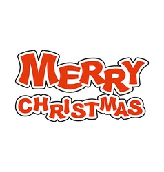 Merry christmas logo for holiday emblem new year vector
