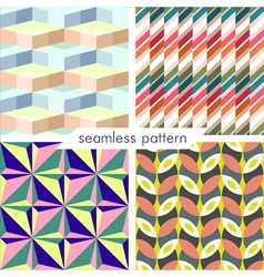 seamless pattern set 14 vector image vector image
