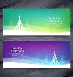 Set of christmas banners vector