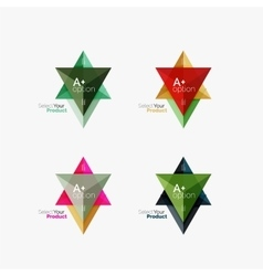 Set of triangle option infographic layouts vector image vector image