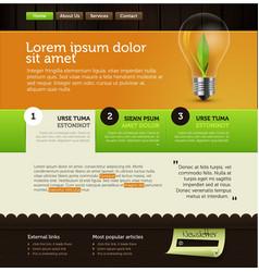 vector web template vector image