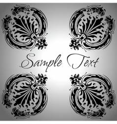vintage calligraphy banner vector image vector image