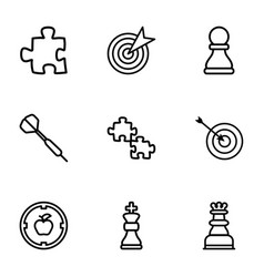 9 strategy icons vector image