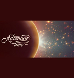 Abstract background with planet and eclipse vector