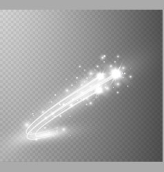 abstract glowing magic star light effect vector image