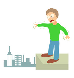 Acrophobia concept cartoon vector