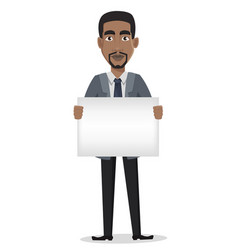 african american business man cartoon character vector image