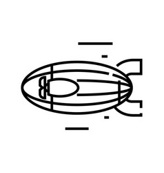 Airship line icon concept sign outline vector