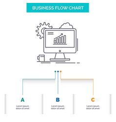 analytics chart seo web setting business flow vector image