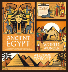 Ancient egypt posters great pyramid giza vector