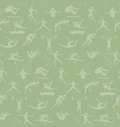 Athletics sport pattern seamless backdrop people vector