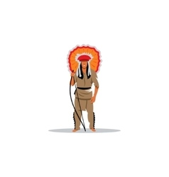 Aztec redskin warrior sign vector image