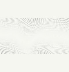 background with white abstract wave dots vector image
