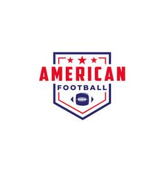 Badge patch emblem american football sport logo vector