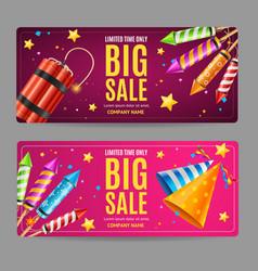 big sale menu option banner card set vector image